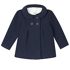 J by Jasper Conran - Designer girl's navy bonded fleece coat
