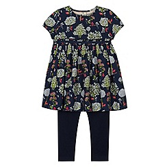 RJR.John Rocha - Designer girl's navy tree print set