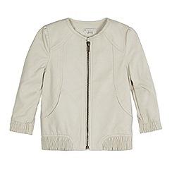 RJR.John Rocha - Designer girl's cream PU jacket