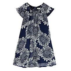 RJR.John Rocha - Designer girl's navy floral print dress