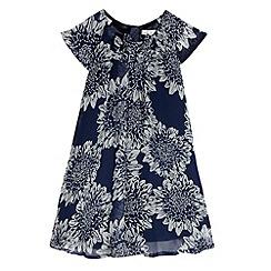 RJR.John Rocha - Designer girl's navy floral print dress