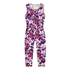 RJR.John Rocha - Designer girl's purple pansy print jumpsuit