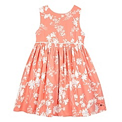 J by Jasper Conran - Designer girl's peach floral dress