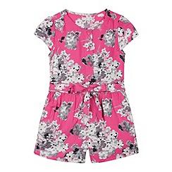 RJR.John Rocha - Designer girl's pink floral jumpsuit