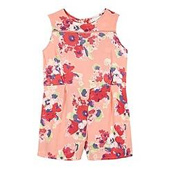 RJR.John Rocha - Designer girl's pink floral culottes playsuit
