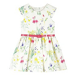 RJR.John Rocha - Designer girl's white botanical belt dress