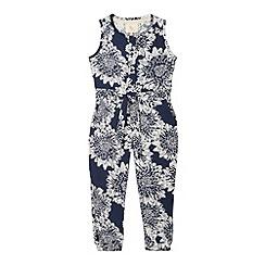 RJR.John Rocha - Designer girl's navy floral jumpsuit