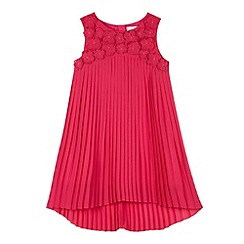 RJR.John Rocha - Designer girl's pink 3D pleat dress