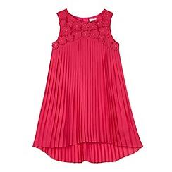 RJR.John Rocha - Designer girl's pink 3D pleat dress