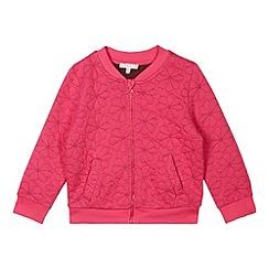 RJR.John Rocha - Designer girl's pink embroidered floral bomber jacket
