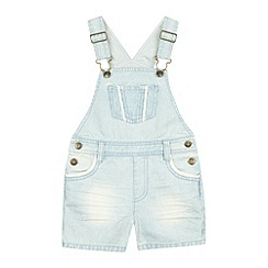 Mantaray - Girls blue denim striped dungarees