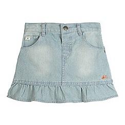 Mantaray - Girl's blue denim striped skirt
