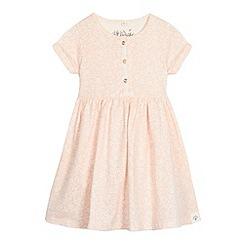 Mantaray - Girl's pink floral printed jersey dress