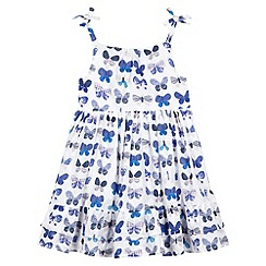 Mantaray - Girl's blue butterfly print dress