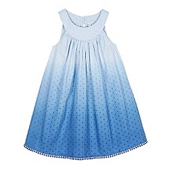 Mantaray - Girl's blue spotted ombre dress