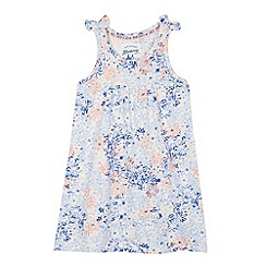Mantaray - Girl's blue floral bow dress