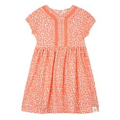 Mantaray - Girl's orange ditsy floral summer dress