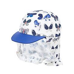 Mantaray - Girl's white butterfly hat