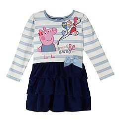 Peppa Pig - Girl's blue striped 'Peppa Pig' dress