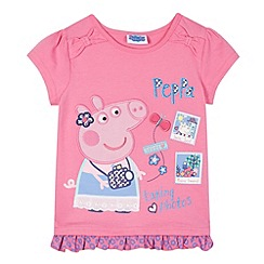 Peppa Pig - Girl's pink 'Peppa Pig' photo t-shirt