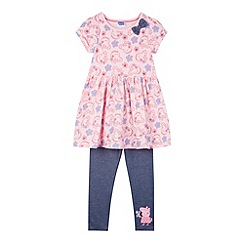 Peppa Pig - Girl's pink 'Peppa Pig' tunic set