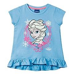 Disney Frozen - Girl's light blue 'Frozen' t-shirt