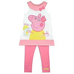 Peppa Pig - Girl's pink 'Peppa Pig' dress and leggings set