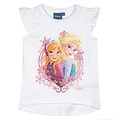Disney Frozen - Girl's white 'Frozen' t-shirt