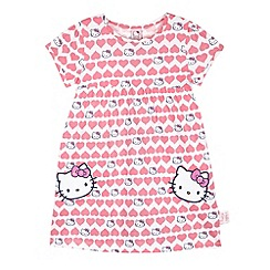 Hello Kitty - Girl's pink hearts 'Hello Kitty' dress