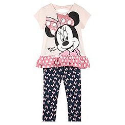 Minnie Mouse - Girl's light pink 'Minnie Mouse' t-shirt and leggings set