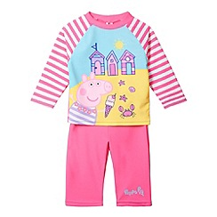 Peppa Pig - Girl's pink 'Peppa Pig' two piece sunsafe
