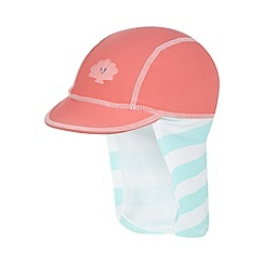 bluezoo - Girl's coral striped sunsafe hat