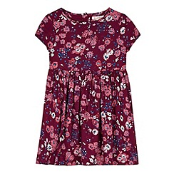 bluezoo - Girl's plum floral woven dress