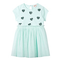 bluezoo - Girl's light green mesh skirt dress