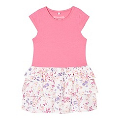 bluezoo - Girl's pink floral t-shirt rara dress