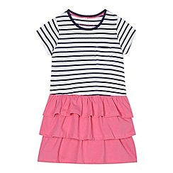 bluezoo - Girl's white striped t-shirt rara dress