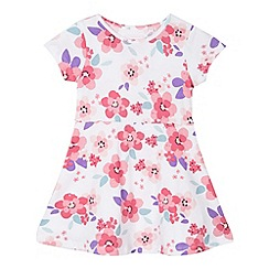 bluezoo - Girl's white floral jersey dress