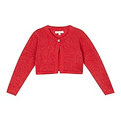 bluezoo - Girls' red metallic cropped cardigan