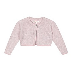 bluezoo - Girl's pink glitter cardigan