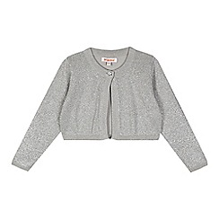 bluezoo - Girl's silver glitter cropped cardigan