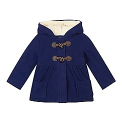 bluezoo - Girl's navy fleece duffle coat