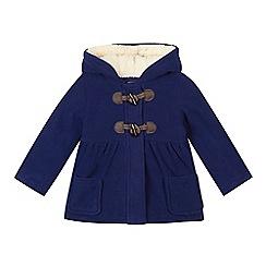 bluezoo - Girl's navy fleece duffle coat