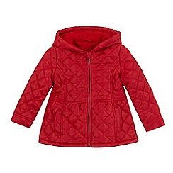 bluezoo - Girl's red quilted riding jacket