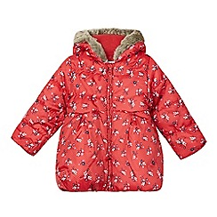 bluezoo - Girl's red floral padded coat