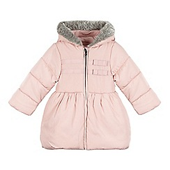 bluezoo - Girl's pink longline padded coat
