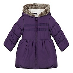 bluezoo - Girl's purple longline padded coat