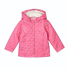 bluezoo - Girl's pink heart padded coat