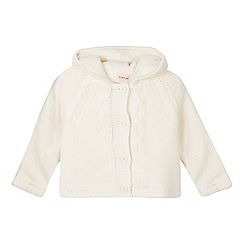 bluezoo - Girl's cream fleece lined cardigan