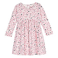 bluezoo - Girl's pink butterfly print jersey dress