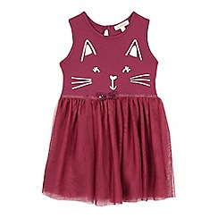 bluezoo - Girls' plum cat dress